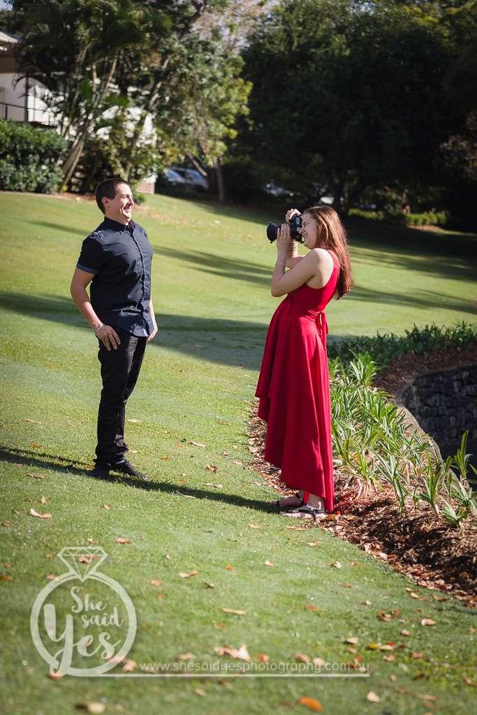 Pre-wedding photo shoot at Mt.Coot-Tha botanical garden.